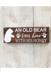 Giftcraft Inc.  Bear Wood Wall Decor - Product Mini Image