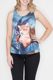 Bear Dance Cat Dragons Tank - Front cropped