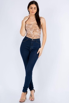Bear Dance Mesh Crop Top - Product List Image