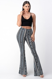 Bear Dance Paisley Print Fitted Bell Bottom Pants - Product Mini Image