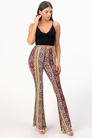 Bear Dance Printed Bell Bottom Palazzo Pants - Other