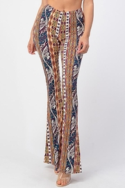 Bear Dance Printed Flair Palazzo Pants - Front cropped