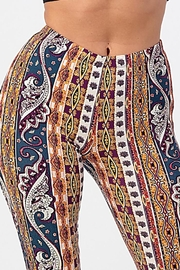Bear Dance Printed Flair Palazzo Pants - Back cropped