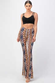 Bear Dance Printed Flair Palazzo Pants - Front full body