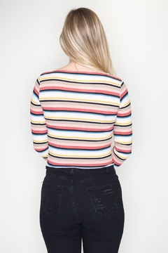 Bear Dance Striped Crop Top - Alternate List Image