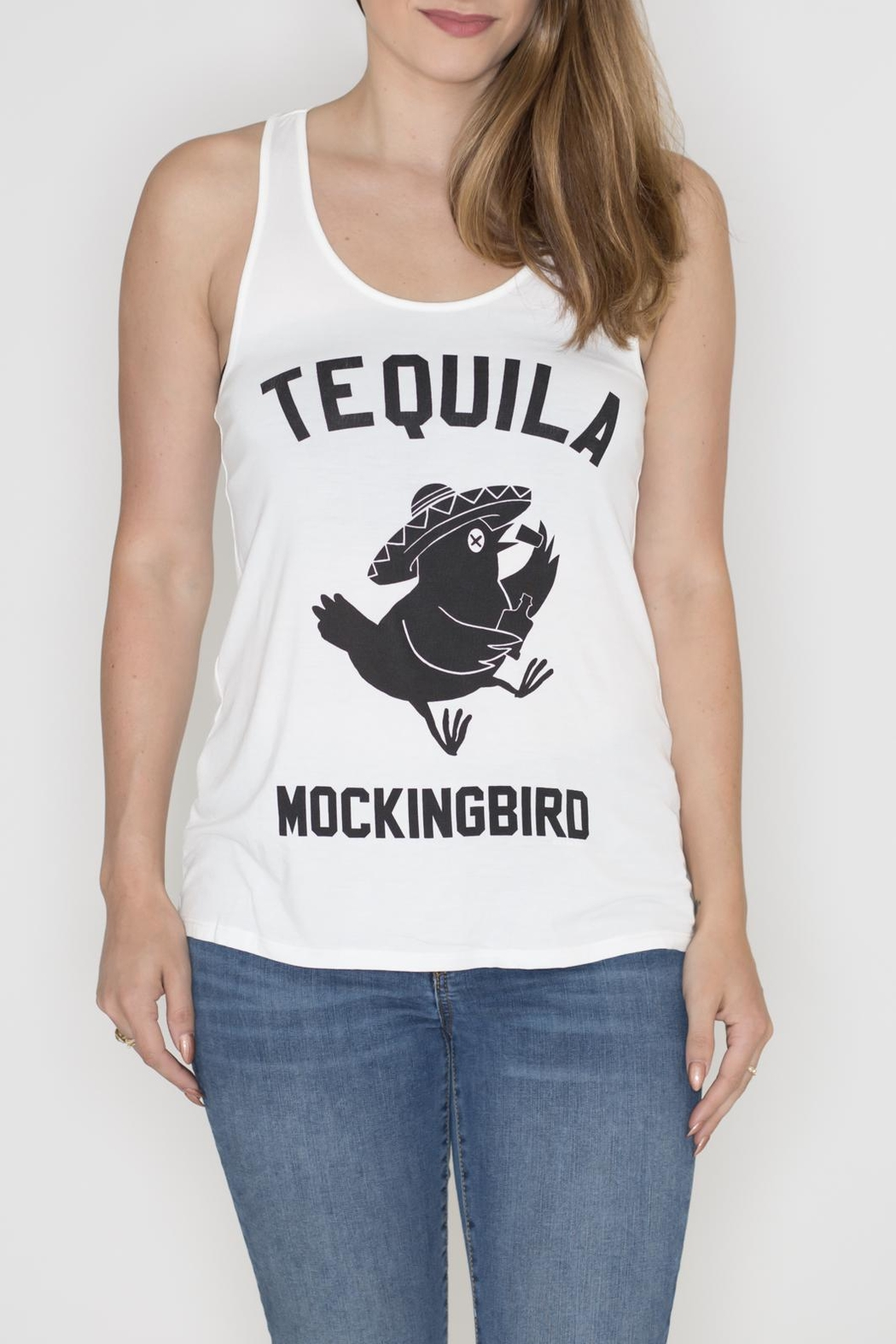 Bear Dance Tequila Mockingbird Tank Top - Front Cropped Image