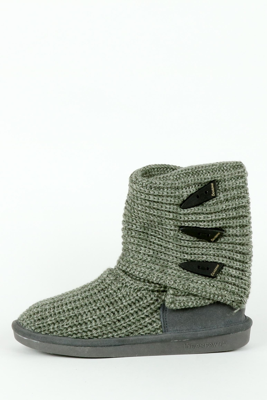 Bearpaw Tall Knit Boot - Back Cropped Image