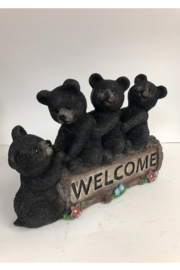 Slifka Sales Bears on Welcome Sign - Front full body