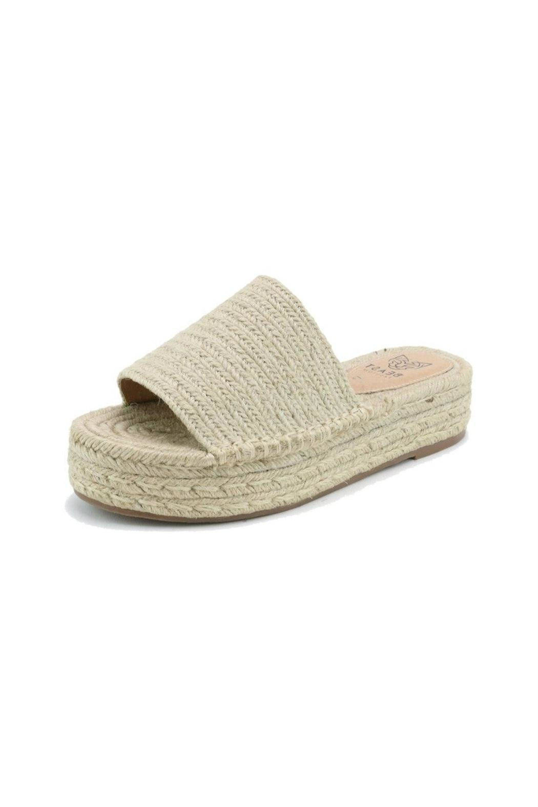 Beast Fashion Tia Espadrille Slide - Front Cropped Image