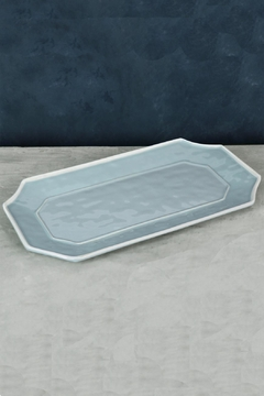 Beatriz Ball Vida Charleston-Blue Platter-Long - Product List Image