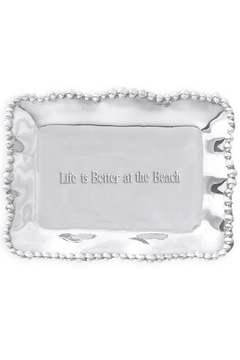 Shoptiques Product: Organic Pearl Engraved-Tray