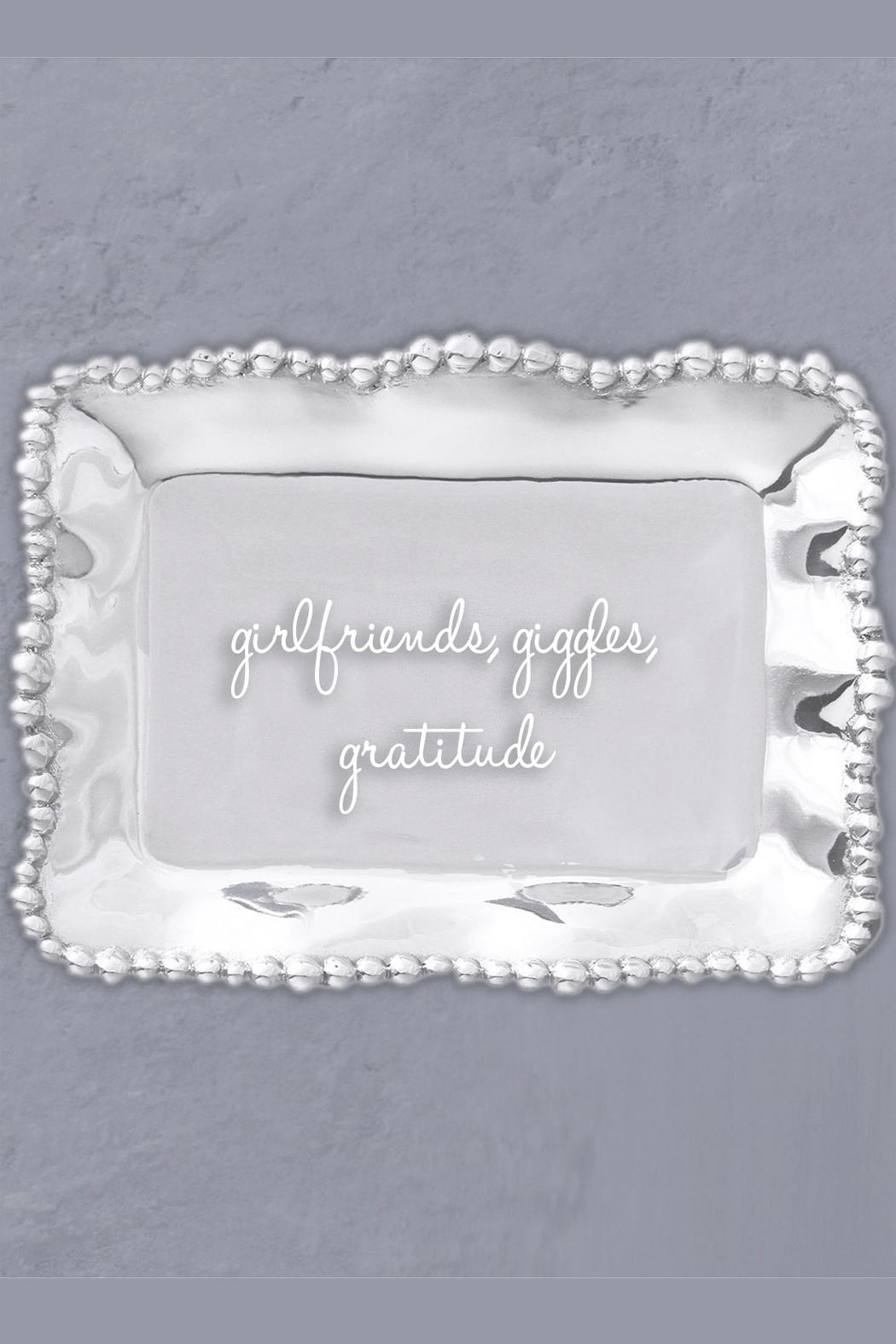 Beatriz Ball Organic Pearl Engraved-Tray - Front Full Image
