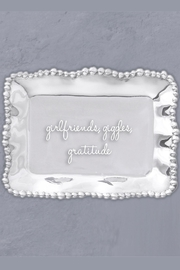 Beatriz Ball Organic Pearl Engraved-Tray - Front full body