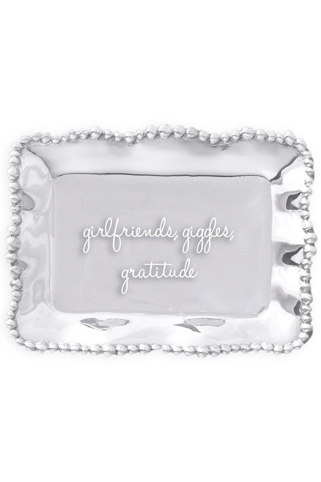 Beatriz Ball Organic Pearl Engraved-Tray - Front Cropped Image