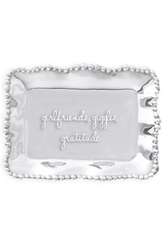 Beatriz Ball Organic Pearl Engraved-Tray - Front cropped
