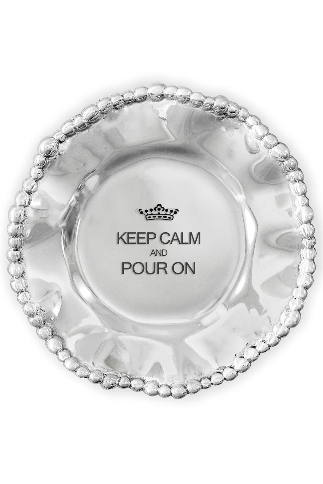 Beatriz Ball Organic Pearl Engraved Wine Plate - Front Cropped Image