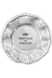 Beatriz Ball Organic Pearl Engraved Wine Plate - Front cropped
