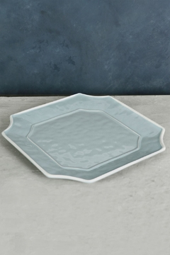 Beatriz Ball Vida Charleston Blue Platter-Large Square - Product List Image