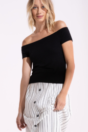 Black Swan Beau Black Cropped Top - Product Mini Image