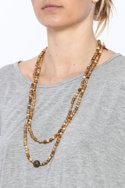Beaucoup Designs Jasper Stone Necklace - Back cropped