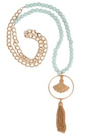 Beaucoup Designs Beaded Amazonite Necklace - Front cropped