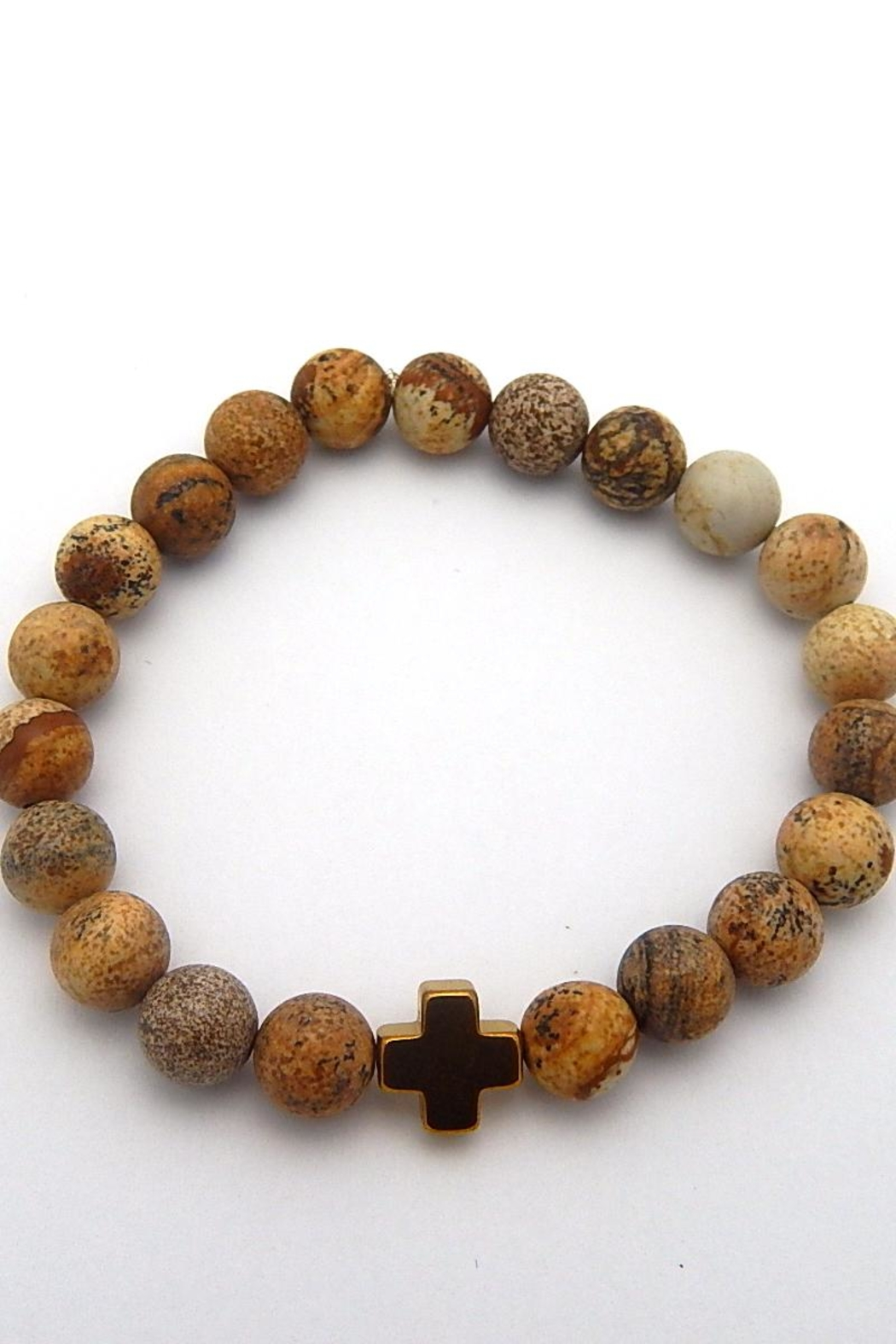 Beaucoup Designs Beaded Stretch Bracelet - Front Cropped Image
