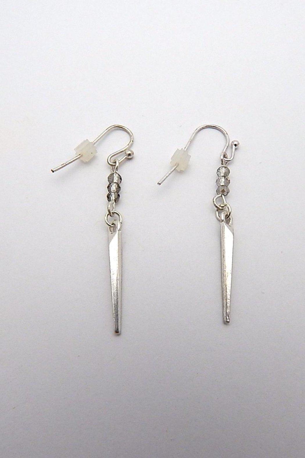Beaucoup Designs Dahlia Silver Earrings - Front Cropped Image