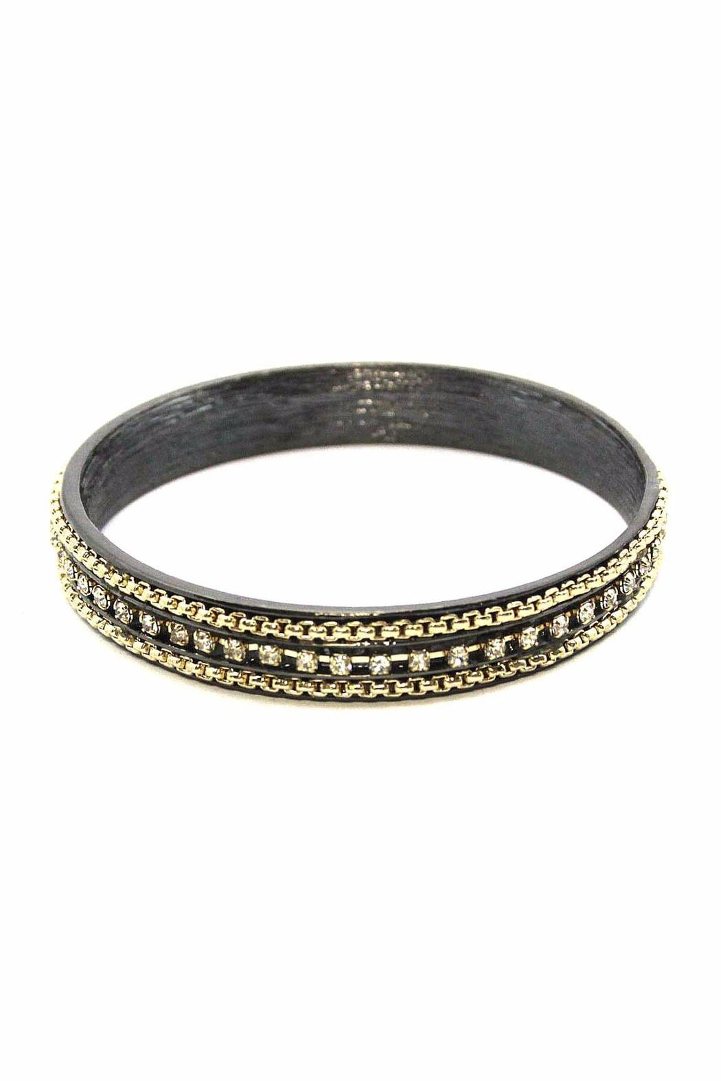 Beaucoup Designs Dauphin Oxidized Bracelet - Front Cropped Image