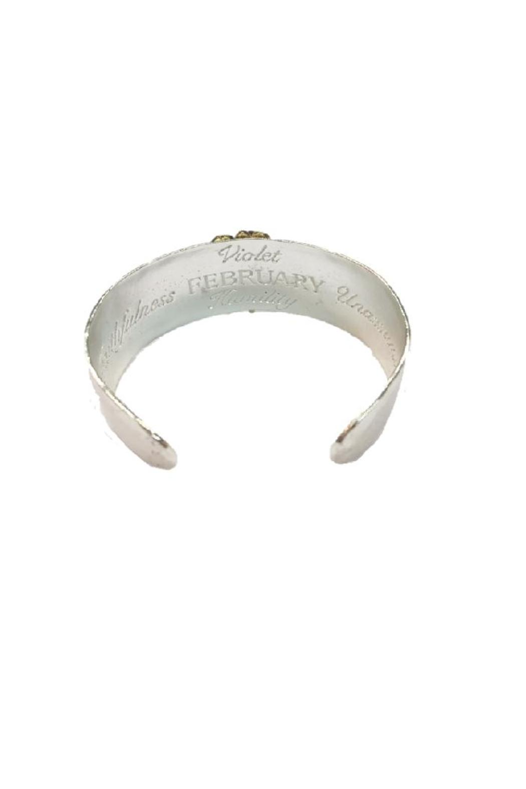 Beaucoup Designs February Cuff Bracelet - Front Full Image