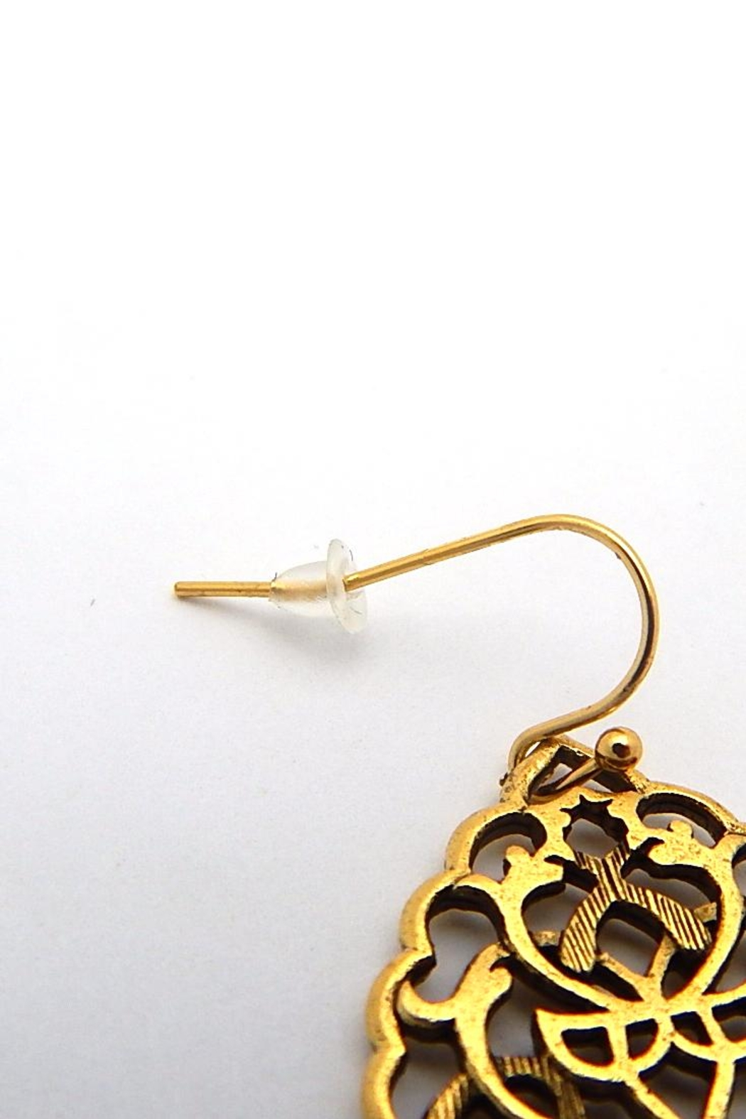 Beaucoup Designs Gold Bohemian Earrings - Front Full Image