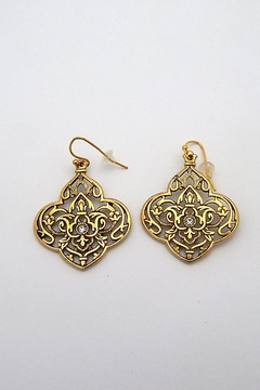 Beaucoup Designs Gold Bohemian Earrings - Product List Image