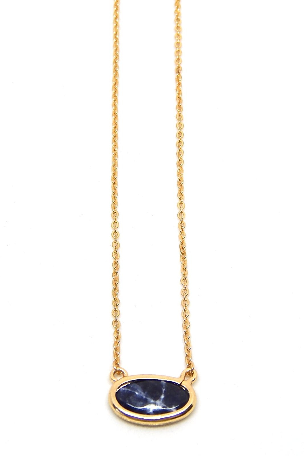 Beaucoup Designs Gold Camille Necklace - Front Cropped Image