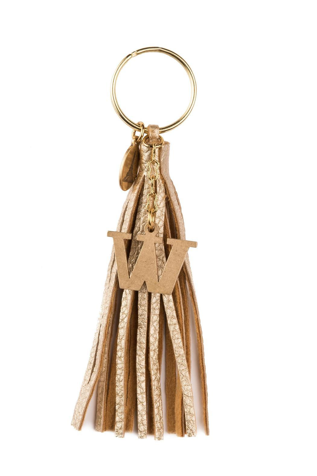 Beaucoup Designs Gold Tassel Keychain - Front Cropped Image