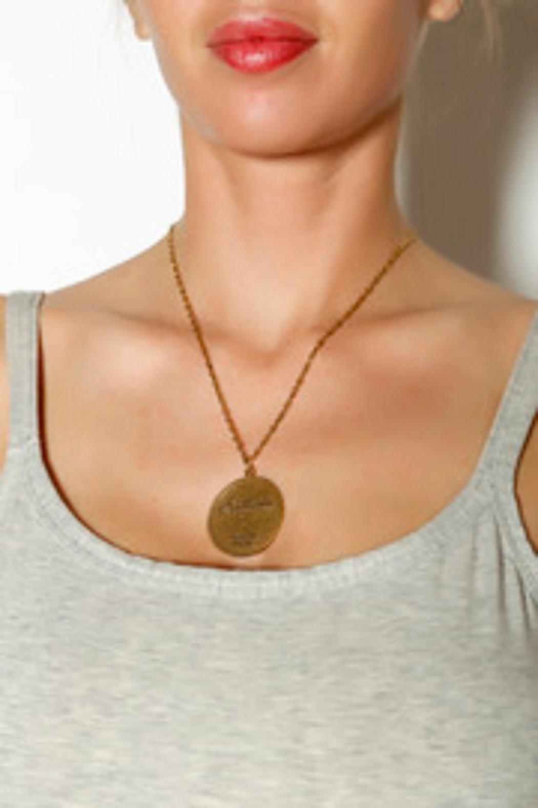 Beaucoup Designs Leo Constellation Necklace - Front Full Image