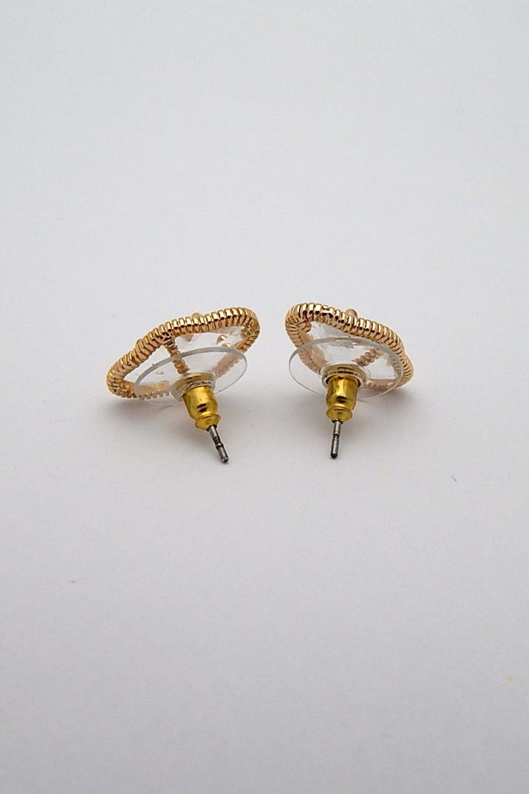Beaucoup Designs Lily Gold Earrings - Front Full Image