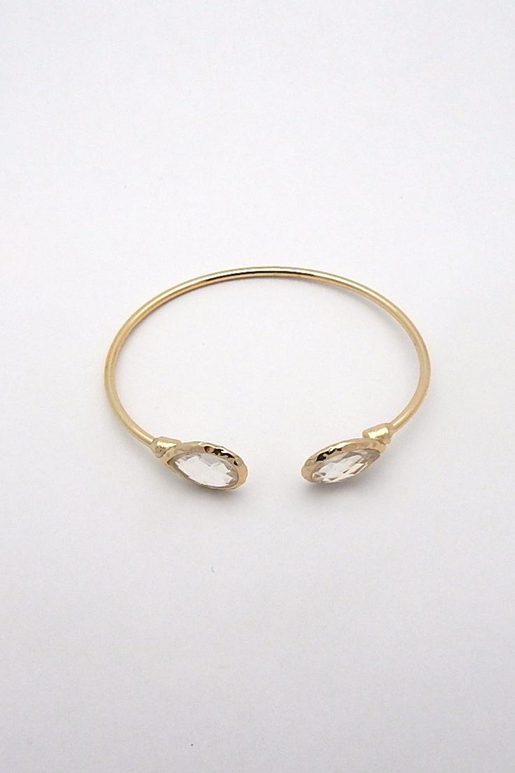 Beaucoup Designs Lily Teardrop Cuff Bracelet - Front Full Image
