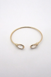 Beaucoup Designs Lily Teardrop Cuff Bracelet - Front full body