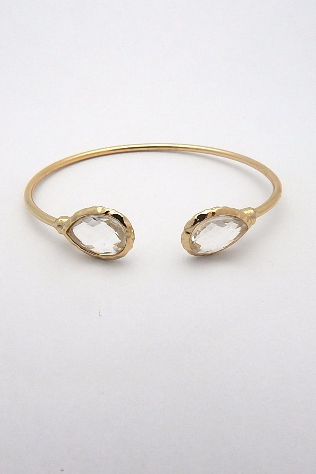 Beaucoup Designs Lily Teardrop Cuff Bracelet - Front Cropped Image