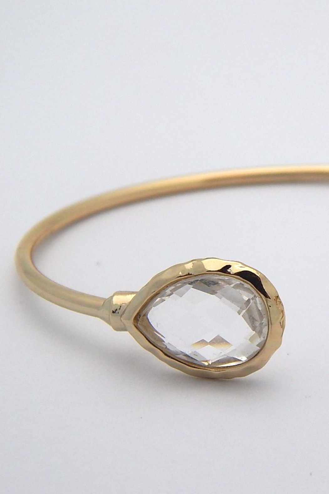 Beaucoup Designs Lily Teardrop Cuff Bracelet - Side Cropped Image