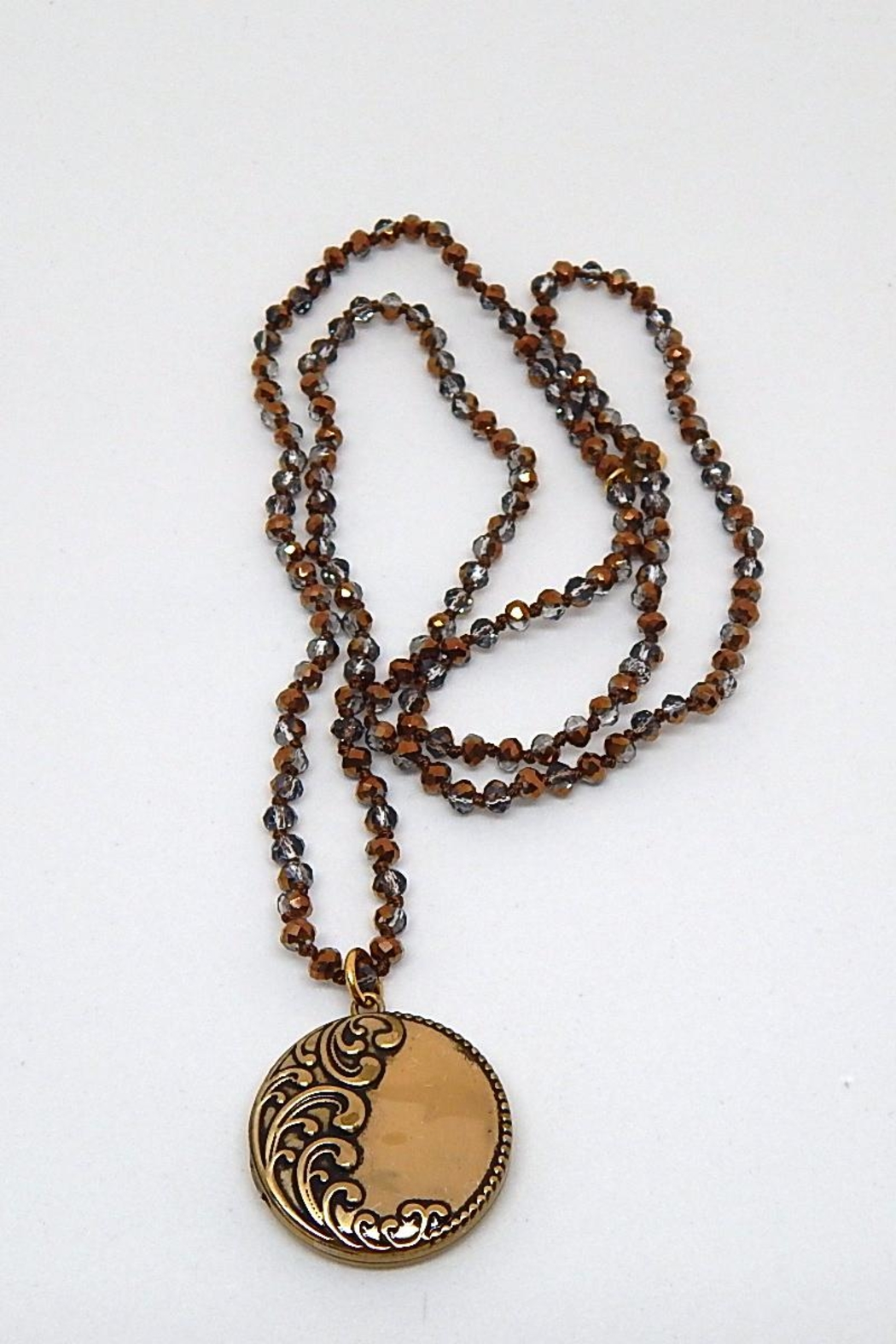 Beaucoup Designs Luxe Brown Necklace - Main Image