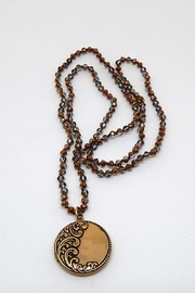 Beaucoup Designs Luxe Brown Necklace - Front cropped