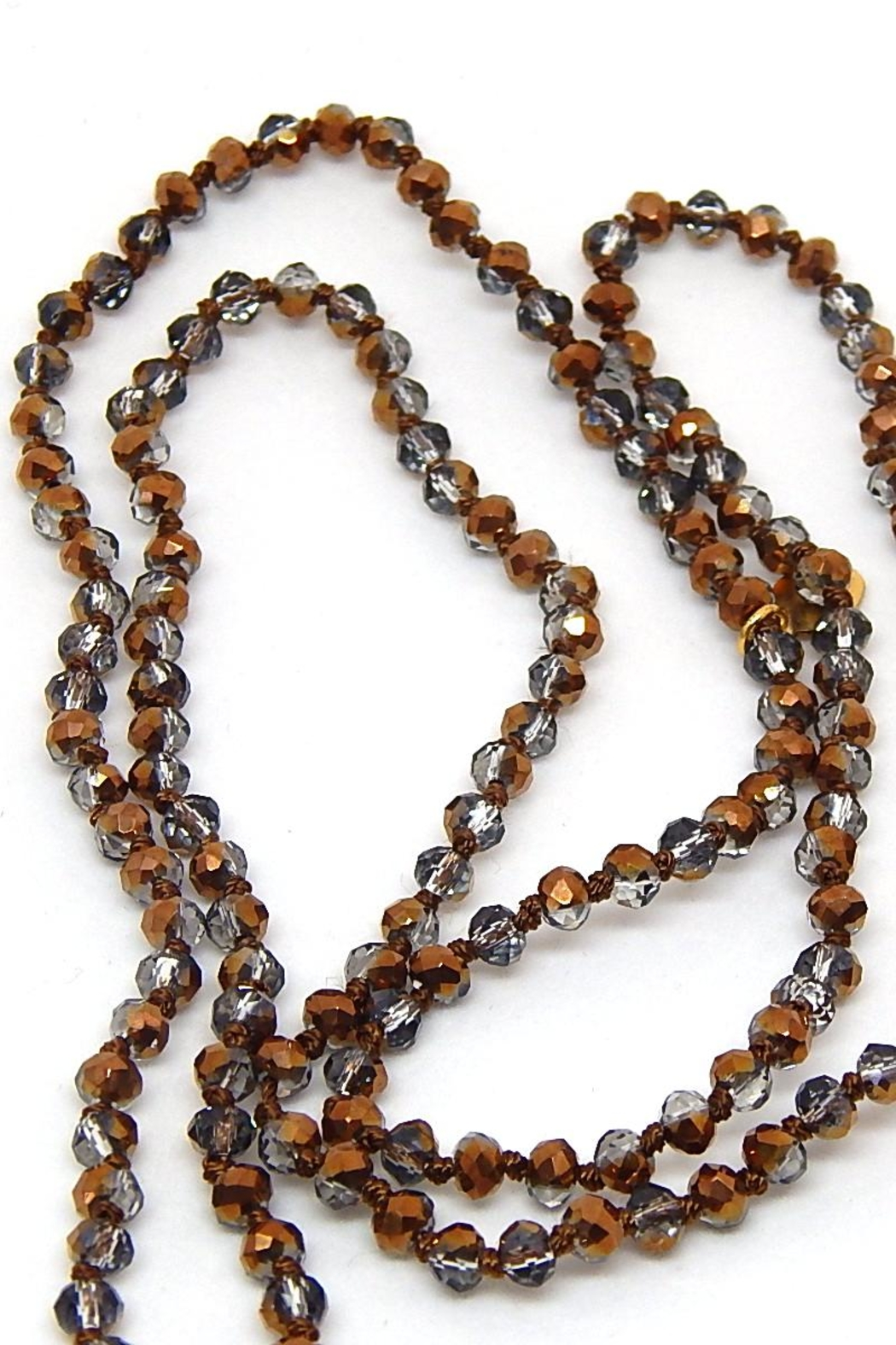 Beaucoup Designs Luxe Brown Necklace - Front Full Image