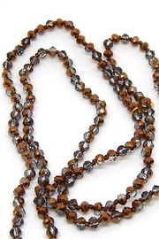 Beaucoup Designs Luxe Brown Necklace - Front full body