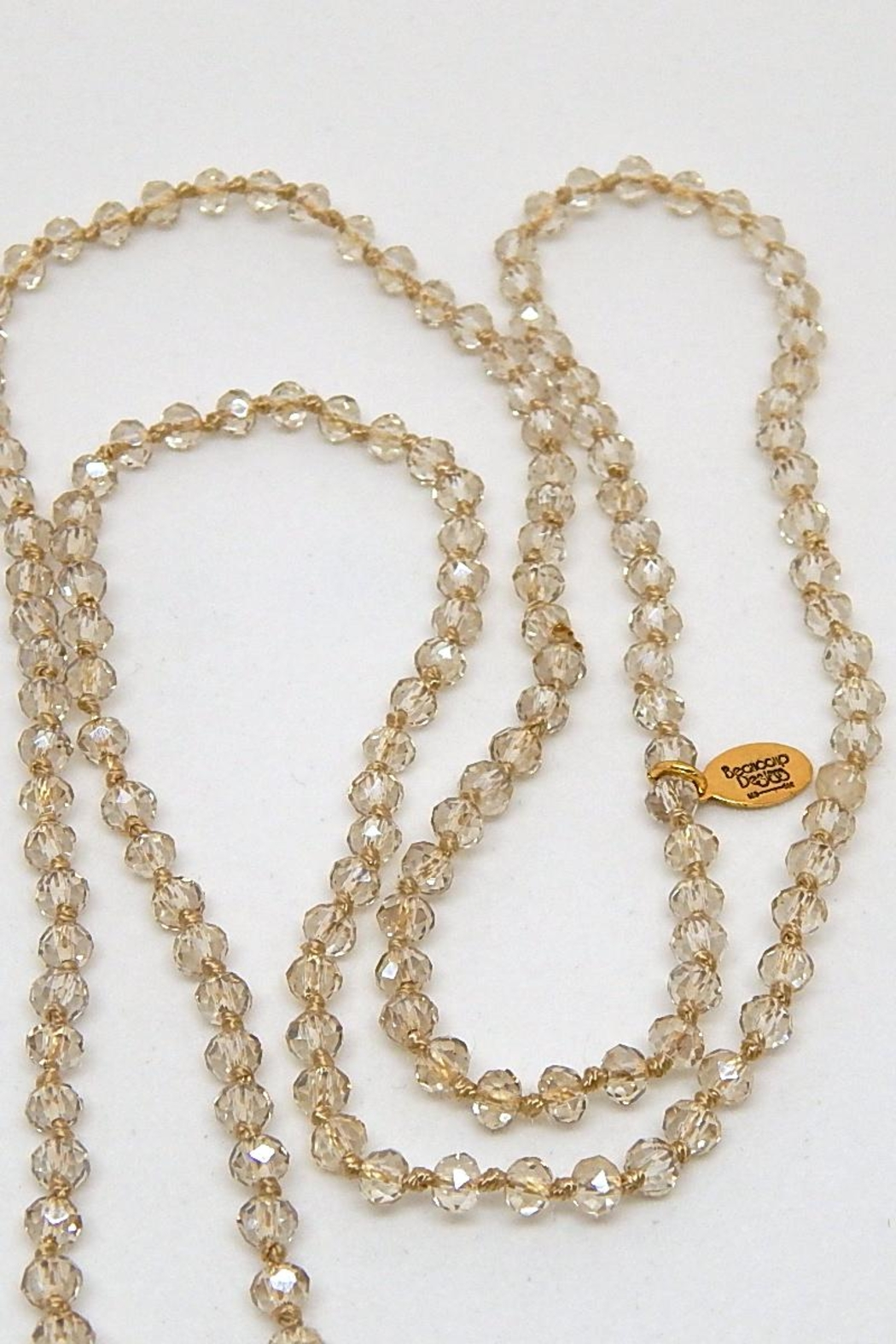 Beaucoup Designs Luxe Clear Necklace - Front Full Image