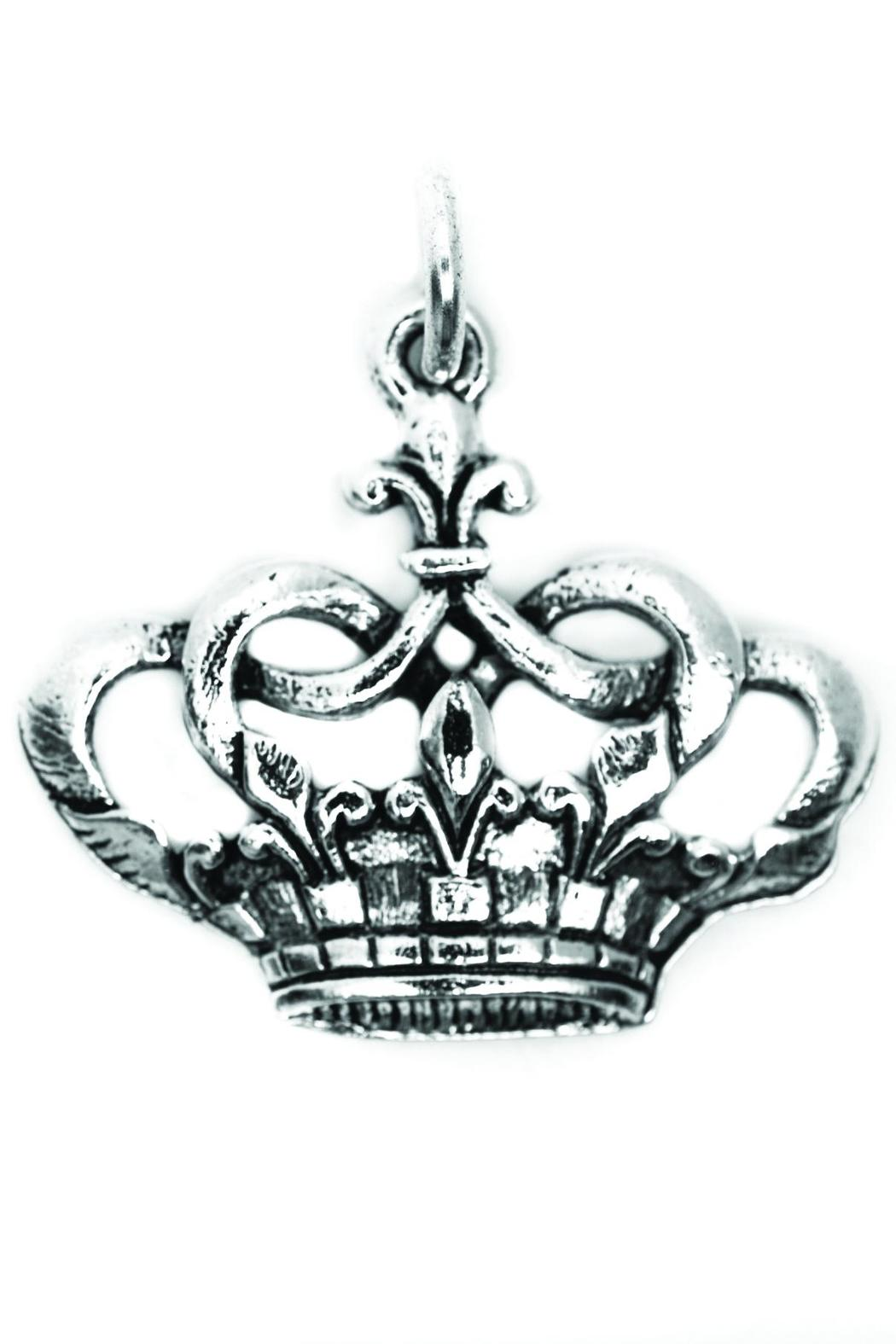 Beaucoup Designs Silver Crown Charm - Main Image