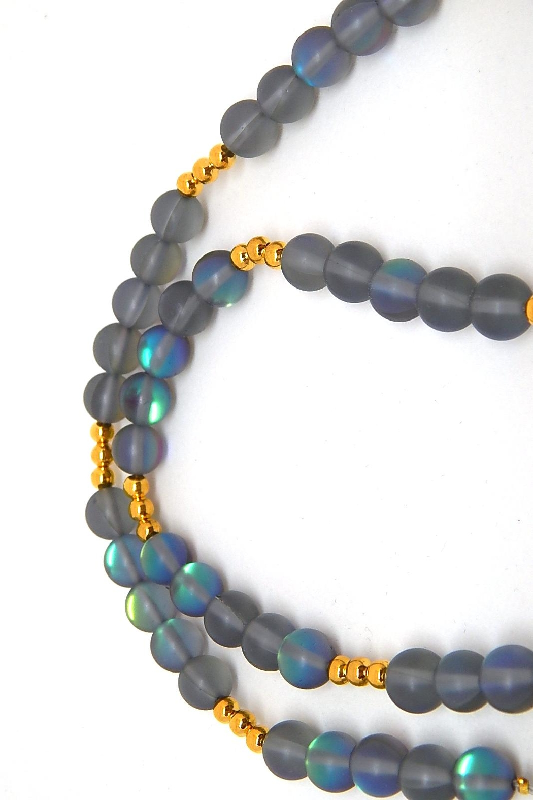 Beaucoup Designs Teragram Luna Necklace - Front Full Image