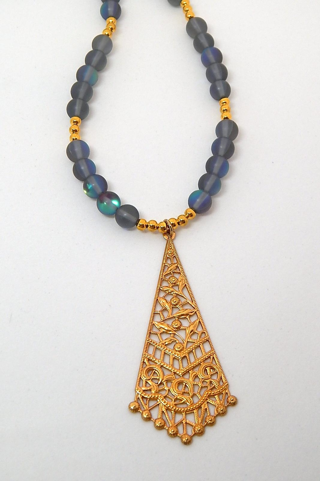 Beaucoup Designs Teragram Luna Necklace - Front Cropped Image