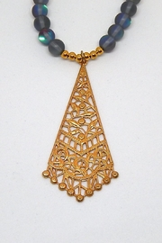 Beaucoup Designs Teragram Luna Necklace - Side cropped