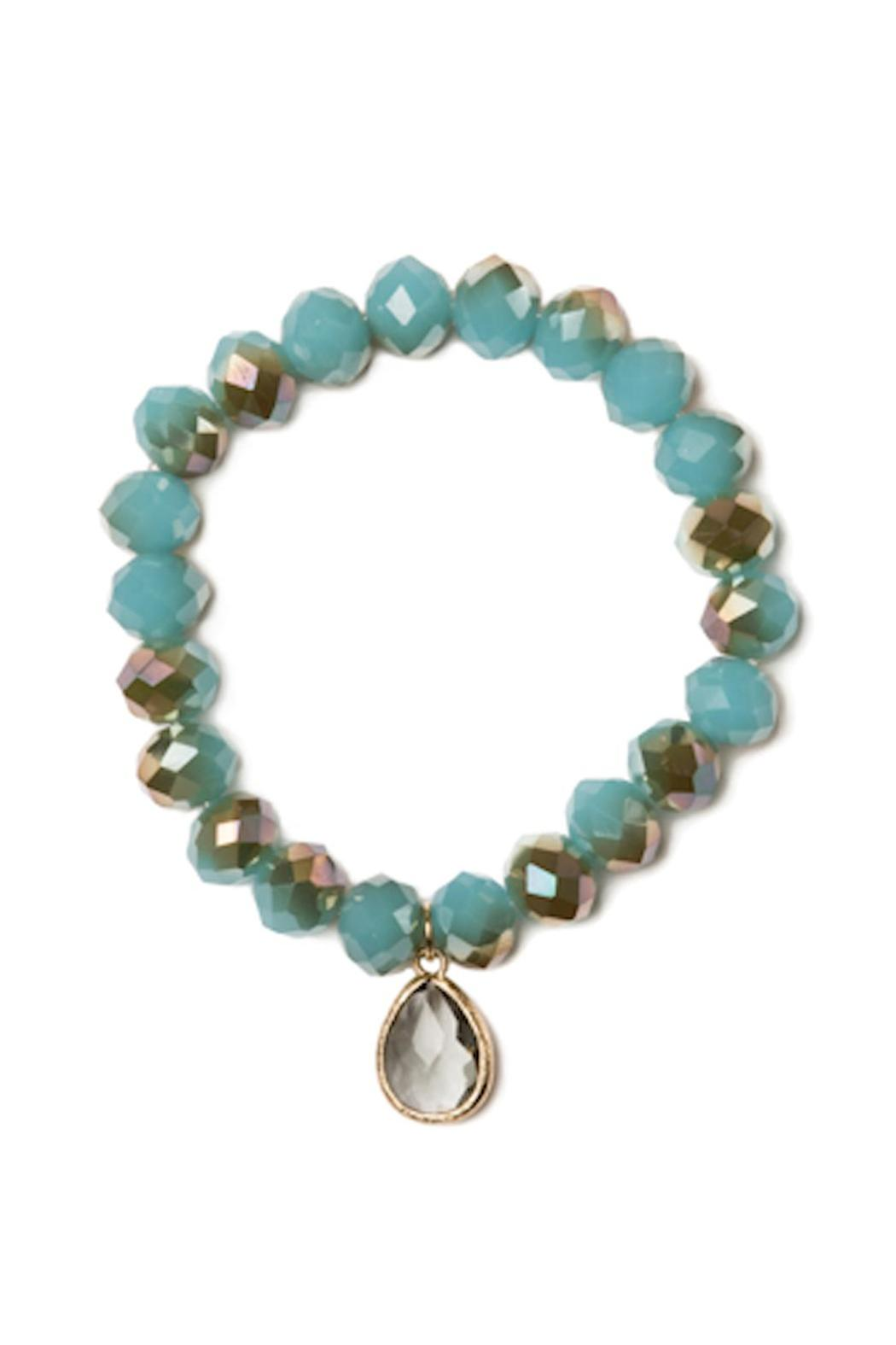 Beaucoup Designs Turquoise Teardrop Bracelet - Front Cropped Image