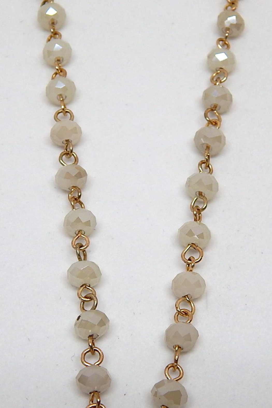 Beaucoup Designs White Beaded Necklace - Side Cropped Image